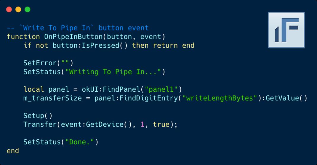 Interactive FrontPanel XFP Scripting
