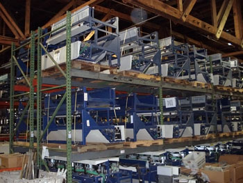 Figure 1: The original CSBCS machines are pictured in the warehouse.